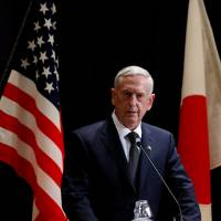 U.S. destabilizing East Asia, China says of Mattis' remarks on defending Senkakus