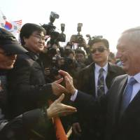 Mattis' military experience carries weight in Japan and South Korea