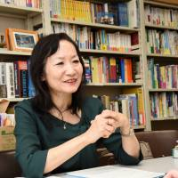 Chikako Tsuruta says many of Donald Trump's remarks are so illogical that interpreters often joke they would end up sounding stupid if they translated his words as they are. | SATOKO KAWASAKI