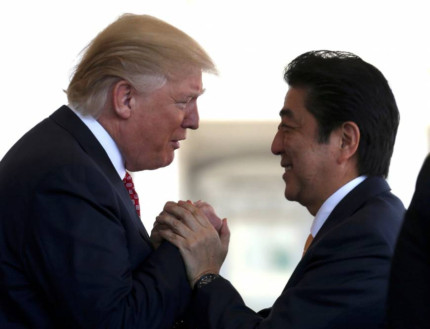 Abe, Trump agree to discuss post-TPP bilateral trade framework