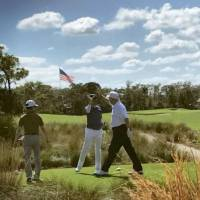 Trump and Abe hit it off during round on Florida golf course
