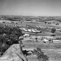 The POW camp in Cowra, New South Wales, is pictured in 1944. | KYODO