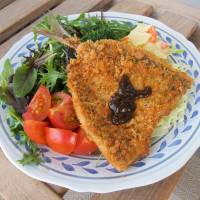 Deep-fried Japanese horse mackerel with 'sauce' and vegetables | MAKIKO ITOH