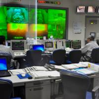The control room at the Shinagawa Incineration Plant in Tokyo.   TIM HORNYAK
