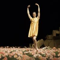 Uplift: A man dances amid flowers in 'Nelken,' a 1982 work said to be 'more relevant than ever.' | LASZLO SZITO