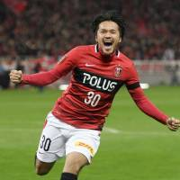 Shinzo Koroki's goals helped Urawa Reds finish in first place in last season's J. League overall table. | KYODO