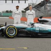 Hamilton, new teammate Bottas unveil new Mercedes W08 car for F1 season