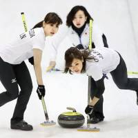 Japan's female curlers using tourney as springboard