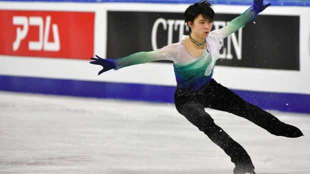 Hanyu still looks good for gold at worlds despite defeat