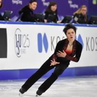 Shoma Uno raised his profile by earning the bronze medal in the men's competition at the Four Continents Championships on Sunday. | AFP-JIJI