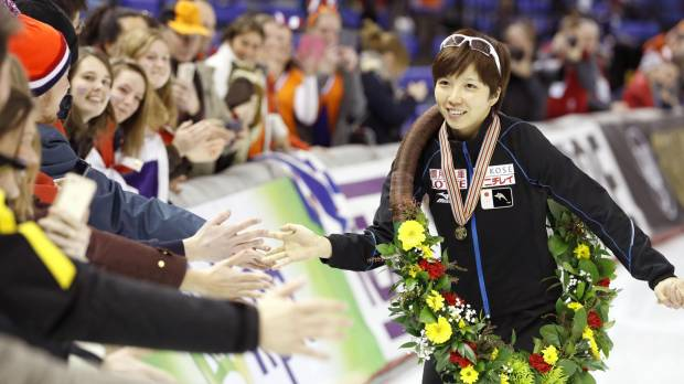 Kodaira bags overall title at speedskating worlds