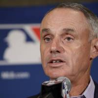 Manfred says MLB to push forward with process for unilateral rule changes