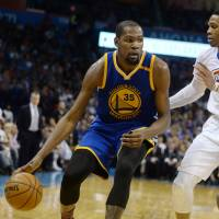 Durant leads Warriors to victory in return to Oklahoma City