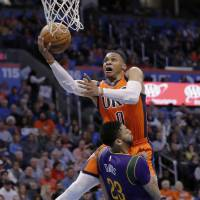 Westbrook too strong for Pelicans