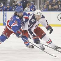 Blue Jackets survive scare, hold off Rangers
