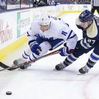 Blue Jackets trounce Maple Leafs