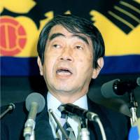 Former Japan Football Association president Shunichiro Okano, seen in a 1998 file photo, died on Thursday. He was 85. | KYODO