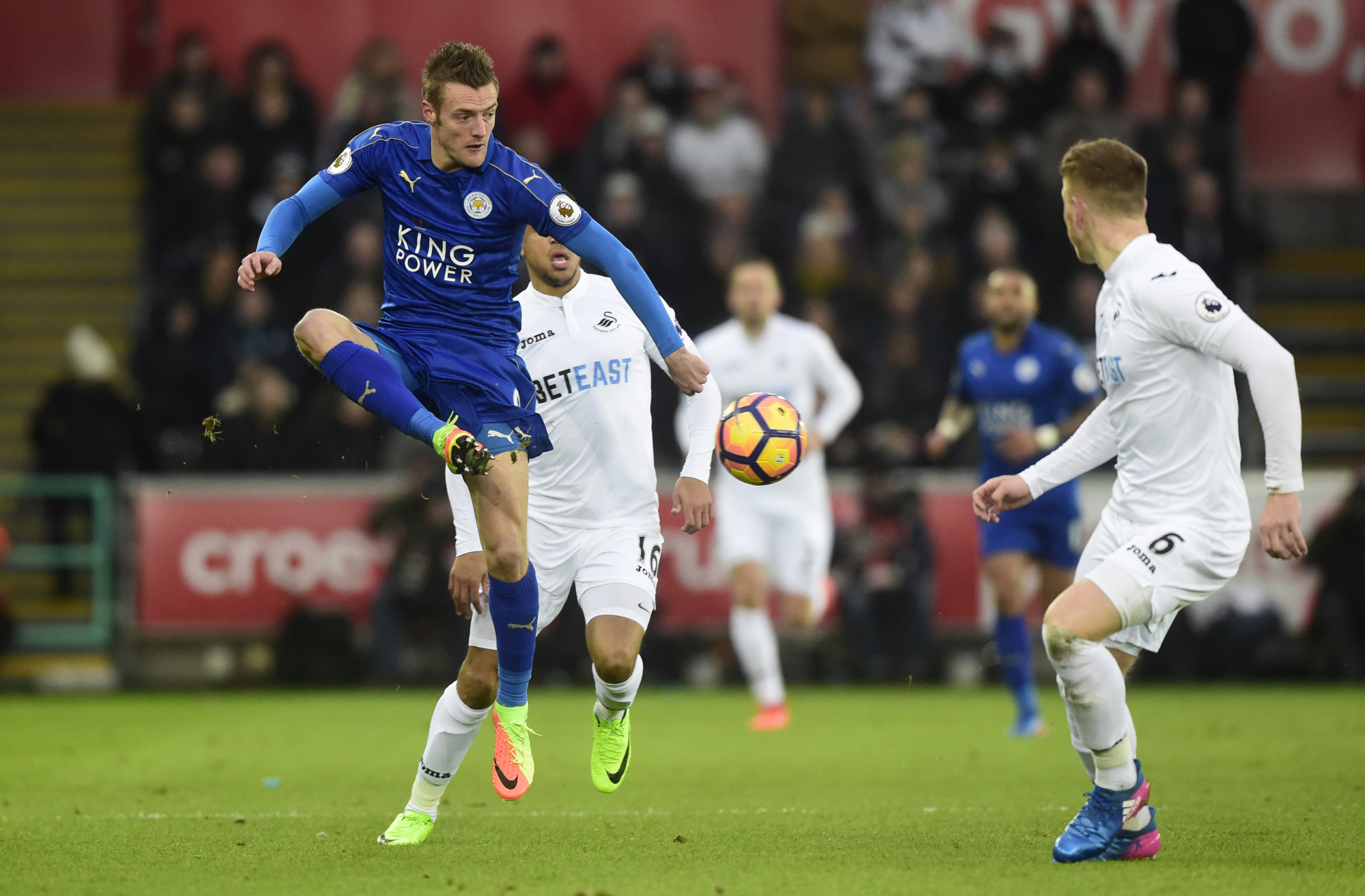 Leicester City's Jamie Vardy has scored just five goals this season. | REUTERS