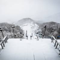 The Okurayama ski jump hill that was used during the 1972 Sapporo Olympics.   ISTOCK