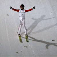 Ski jumper Nakamura soars to victory in large hill individual event