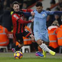 Man City moves into second place with win over Bournemouth