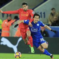 Struggling Leicester pulls off upset of Liverpool