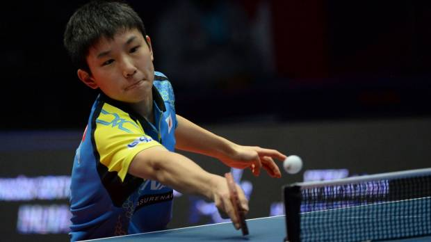 Table tennis prodigy Harimoto misses out on record