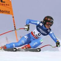 Goggia holds lead after downhill portion of combine race at worlds; Vonn in sixth