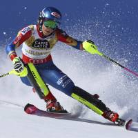 Shiffrin captures third straight slalom title at world championships
