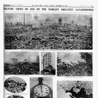 The Sept. 22, 1923, issue of The Japan Times & Mail shows photos taken after the Great Kanto Earthquake hit Tokyo and the surrounding area.