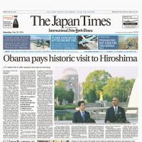 The front page of the May 28, 2016, issue highlights U.S. President Barack Obama's visit to Hiroshima.