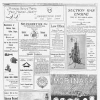 A page from a supplement issued on Sept. 27, 1914, is filled with ads.