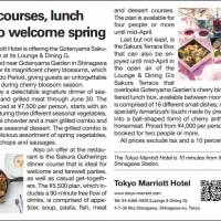 Dinner courses, lunch boxes to welcome spring