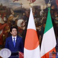 G-7 host Italy enlists Abe help as leaders seek rejection of protectionism