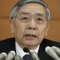 BOJ won't raise bond yield target: Kuroda