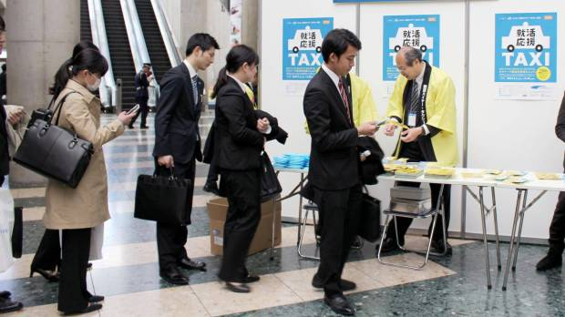 Hair care and taxi fares: Firms offer new class of job-seekers a variety of services