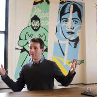 Scott Heiferman, CEO of Meetup, is interviewed March 13 in New York. The online networking site is partnering with a left-leaning labor union and a former Hillary Clinton aide to roll out a platform for organizing people who oppose President Donald Trump. | AP