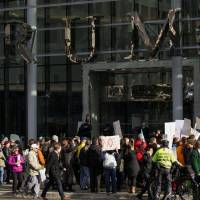 Protests, mayoral snub, false tweet mark opening of Trump tower in diversity-friendly Vancouver