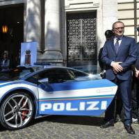Good luck outrunning Italy's new Lamborghini police car