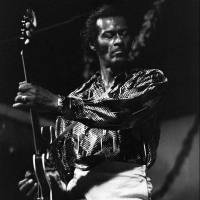 U.S. rock legend Chuck Berry performs in Nice, France, during the 'Grand Jazz Parade' in July 1981. Berry died Saturday at the age of 90. | AFP-JIJI