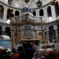 Jesus burial shrine's historic restoration finished in time for Easter