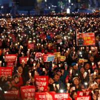 Tens of thousands of South Koreans celebrate Park's ouster