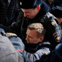 Opposition leader Navalny arrested in Moscow as Russians defy protest bans