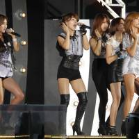 The South Korean group 4 Minute performs during the K-Pop All-Star live concert in Niigata on Aug. 20, 2011. | AP