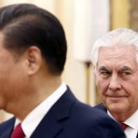 Tillerson upbeat from meeting with Xi after saber-rattling against Pyongyang