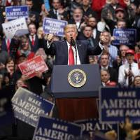 Trump back on the road to rally support as Beltway challenges mount