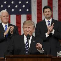 Seeking support from Congress, Trump was almost diplomatic in speech — but will it last?