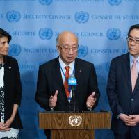 Fearing war, China says if U.S. halts drills, North Korea may back down but Haley leaves options open
