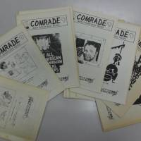 Newsletters issued by anti-apartheid campaigners in Japan are among the records displayed at Rikkyo University's Research Center for Cooperative Civil Societies in Tokyo. | KYODO