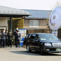 Friends of Yusuke Kaburagi, 17, who was killed in an avalanche earlier this week, attend his funeral in Nasu, Tochigi Prefecture, on Thursday. | KYODO